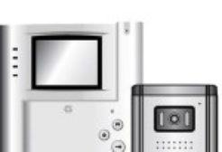 videó kaputelefon szett fekete-fehér kamerával 4″ LCD kijelzővel